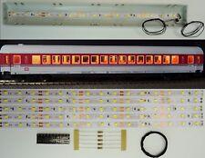 5 Stück 250mm LED Waggon Innenbeleuchtung Warmweiß Bausatz Analog/Digital C3217