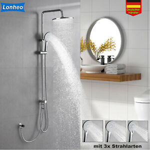 Duschsystem Regendusche Duschset Massage Duschpaneel mit Handbrause Edelstahl