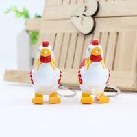 Cute Chicken LED Keychain with Sound Keyring Key Holder Mini Flashlight Gift Toy