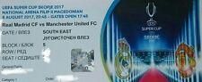 Ticket Uefa Super Cup 8.8.2017 Real Madrid Cf - Manchester United Fc # Skopje