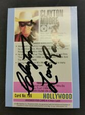 "~ Clayton Moore ""Lone Ranger"" Card ~ Jsa Certified Autograph ~ Starline Holywood"