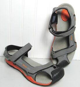 Kids TEVA TOACHI 2 Sport Water Hiking Walking Sandal Gray Covered Toe sz 6 EU 38