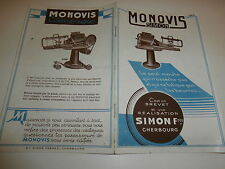 Livret Catalogue MONOVIS SIMON CHERBOURG fabrique machine Moule Pains de Beurre