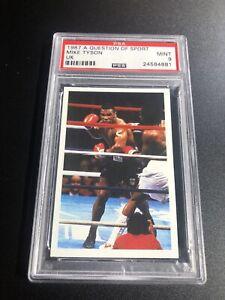 1987 MIKE TYSON Question Of Sport Boxing Card UK - PSA 9 Mint - LOW POP!