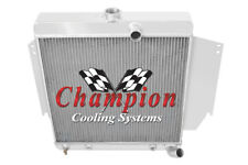 3 Row Perf Champion Radiator for 1965 1966 Plymouth Valiant Slant 6 Engine