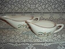 Two Vtg. Gravy Boats, Knowles Pottery