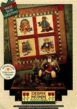 Debbie Mumm's The Word Holly Bear Christmas Pattern AP-54 UNCUT