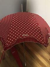 Umbrella MOSCHINO Boutique with fabric bag red polkadot