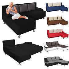 VCM Ecksofa / Couch mit Schlaffunktion / Stoff oder Kunstleder