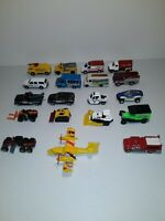 Lot of 19 Matchbox Cars. Emergency Vehicles,Airplane,Dozers & NYPD.Some Vintage.