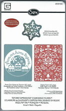 FROM OUR HOME & ALPINE YULE Snow - Sizzix Craft Embossing Folder & Die Set of 3