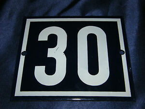 Enamel No. 30 14x12cm Email House Sign Number Plot Allotment Garden