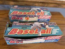 2-1975 Topps Baseball Empty Display Box 15 CENTS *See Photos 1 Mini 1 Regular