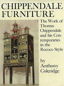 Antique Chippendale Furniture Rococo Style 1745-1765 / Scarce In-Depth Book