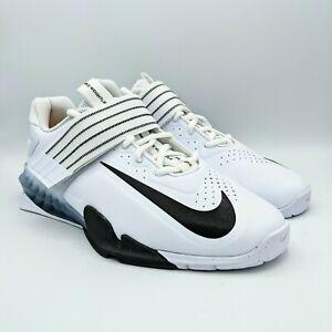 Nike Savaleos White Grey Weightlifting Training Shoes CV5708 100 Men Size 10