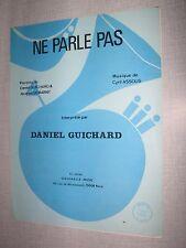 PARTITION MUSICALE FRANCE DANIEL GUICHARD NE PARLE PAS