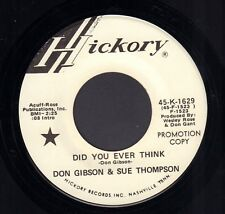 "DON GIBSON & SUE THOMPSON ‎– Did You Ever Think (1972 US PROMO SINGLE 7"")"