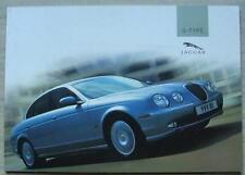 JAGUAR S TYPE Car Sales Brochure 2004 #JLM/10/02/15/04 V6 SPORT SE V8 Type R