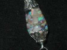 OPAL NECKLACE POOLS OF LIGHT FLOATING AUSTRALIAN OPALS IN MATRIX ROCK CRYSTAL