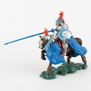 Charging Lancer, Red Bull, Swoppets Knight by Britains of England War Roses