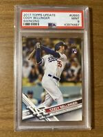 2017 Topps Update Swinging Cody Bellinger ROOKIE CARD RC #US50 PSA 9 MINT MVP