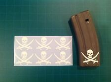 AR Magazine Sticker 6 Pack, TRADITIONAL CALICO JACK, Navy Seals, AR, All Colors!