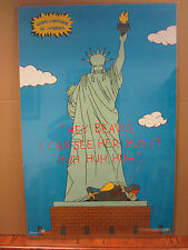 vintage Beavis and butt head Do America I can see Her Butt! 1996 Mtv Poster 3284