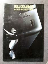 SUZUKI HORS-BORD '90 moteurs Outboard Motor Sales Brochure publicitaire 1990