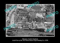 OLD POSTCARD SIZE PHOTO ISLINGTON LONDON ENGLAND THE CARPET WORKS c1950
