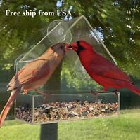 washable FAST FREE SHIPPING! durable THE ORIGINAL Window Bird Feeder: large