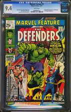 Marvel Feature #1 CGC 9.4 Re Sub 9.6 1ST DEFENDERS Hulk Dr Strange Silver Surfer