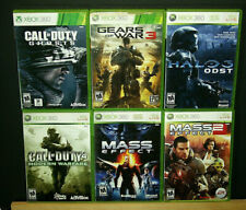 CALL OF DUTY, MASS EFFECT, HALO & GEARS OF WAR Games 6 XBOX 360 Game Lot
