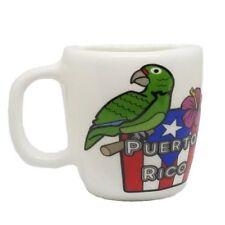 Puerto Rico Mini Mug Cotorra & Flag Magnet Refrigerator Souvenirs Rican Magneto