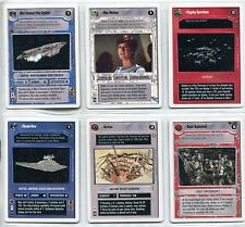 Star Wars CCG Second Anthology White Border Preview Complete 6 Card Set