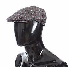 NEW $240 DOLCE & GABBANA Hat Cabbie Newsboy Cap Gray Baroque Cotton Mens 58 / M
