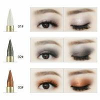 Hot 2 in 1 Eye Makeup Pencil Metallic Cosmetic 6Colors Liquid Eyeliner Eyeshadow