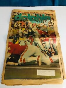 Vintage 1972 Miami Dolphins NFL vintage Digest Newspaper Larry Csonka