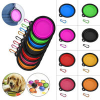 Pet Dog Portable Silicone Collapsible Travel Feeding Bowl Water Food Dish Feeder
