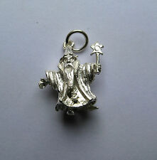 Sterling silver moveable wizard charm