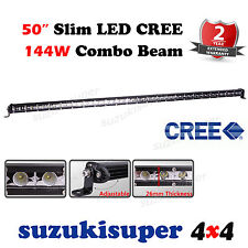 Slim CREE LED Light Bar 50 Inch 144W Combo Spot Flood Beam Work Offroad 4WD