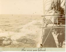 France, Marseille, la mer par bâbord, vue prise du transatlantique ''l