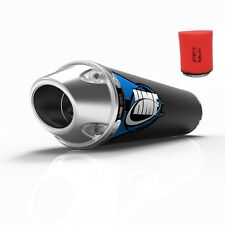 HMF Competition Comp Slip On Exhaust Pipe + Uni Air Filter TRX450R 2004-2005