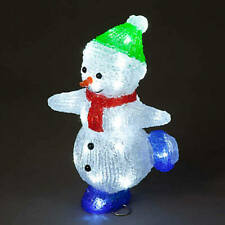 29 cm Acrylic LED Skating Snowman