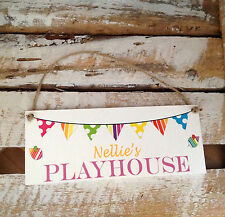 038 PERSONALISED HANGING PLAYHOUSE SIGN