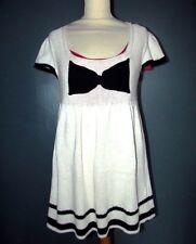 ATMOSPHERE ROBE DRESS TRENDY JEU DE MAILLE EMPIRE NOEUD T UK 10 OU 40/42