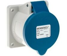 MENNEKES IP44 Blue Panel Mount 2P+E Industrial Power Socket, Rated At 32A, 240 V