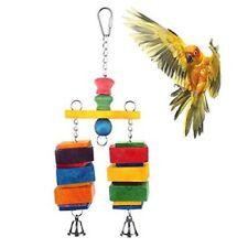 Jusney Bird Toy Balance Swing Small / Medium Parrot Hanging Bird Cage Toys Bells