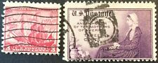1934 3c Maryland Tercentenary and Mother's comm., Scott #736-37, Used, Fine