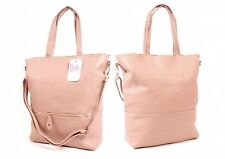 NEW Nicole Brown Pink Large Ladies Shopper Weekend Bag Shoulder Bag Travel Bags