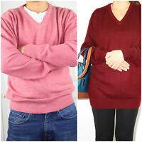100% Pure Cashmere  Sweater Jumper New V Neck Men Ladies Pullover Top  L,XL,XXL